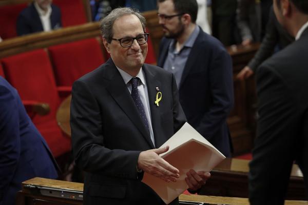 Новый глава Каталонии Ким Торра  не присягнул на верность королю Испании