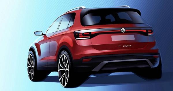 Volkswagen впервые показал компактный кроссовер T-Cross
